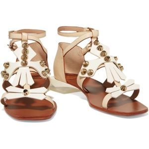 Tory Burch Aurora Ankle Strap Sandal in Ivory 81/2